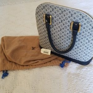 "Louis Vuitton ""AUTHENTIC"" ALMA HAUT M. MINI BLEU"